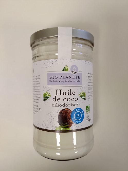 Huile de coco désodorisée - goût neutre - 1kg