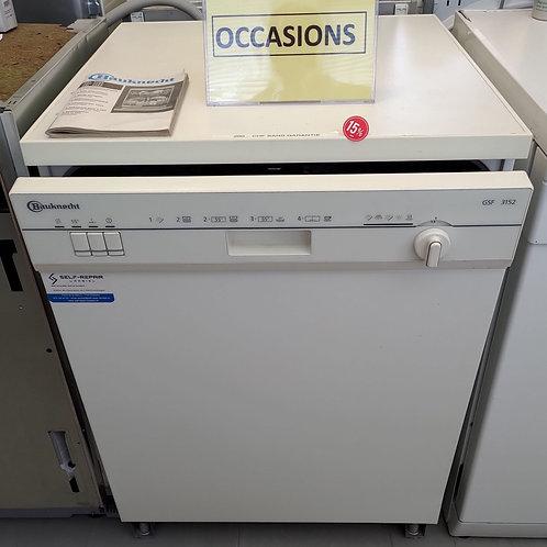 Lave-vaisselle Bauknecht - Hauteur 845mm - Largeur 594mm - Profondeur 595mm