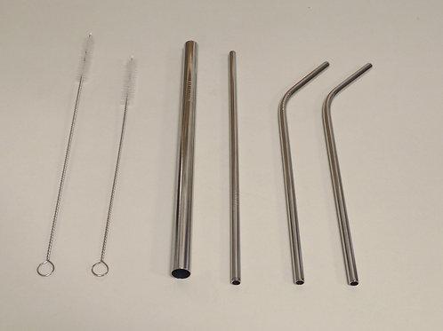 Kit pailles inox - 4 pailles et 2 brosses