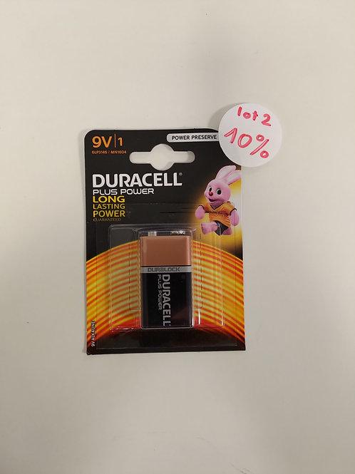 Pile Duracell - 9V- lot 1 pièce