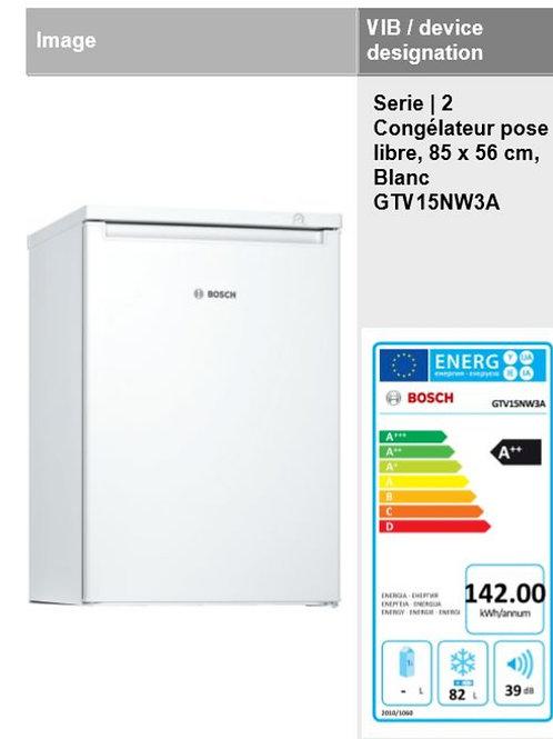 Congélateur Bosch indépendant_82 litres_ blanc_85x56cm