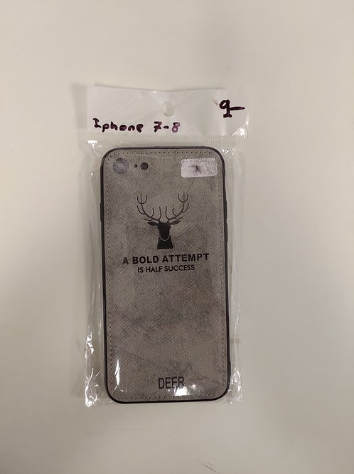 Protection Iphone 7-8 - respirable -gris