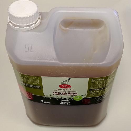 Savon noir liquide à l'huile d'olive - 5 litres