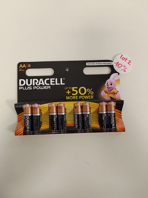 Pile Duracell - AA - lot 8 pièces