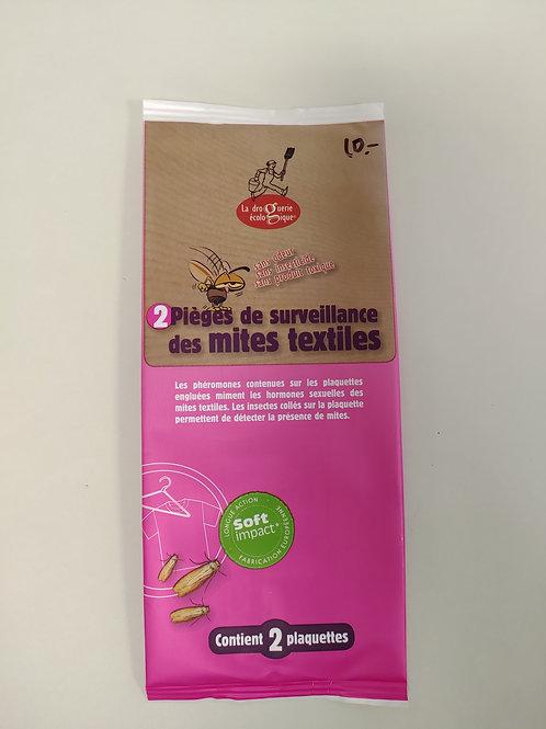 2 pièges de surveillance des mites textiles