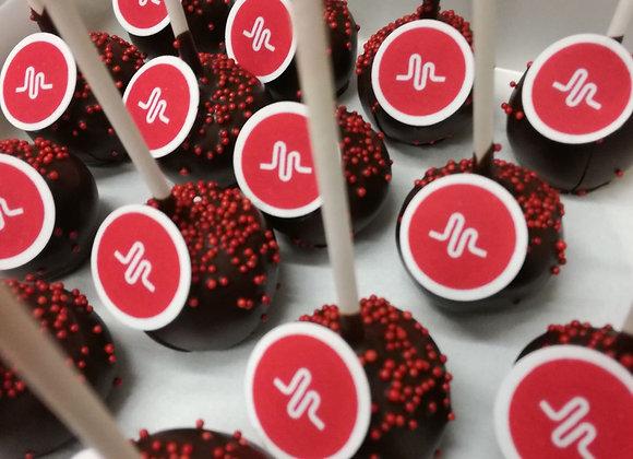 Cake pops chocolat  + logo