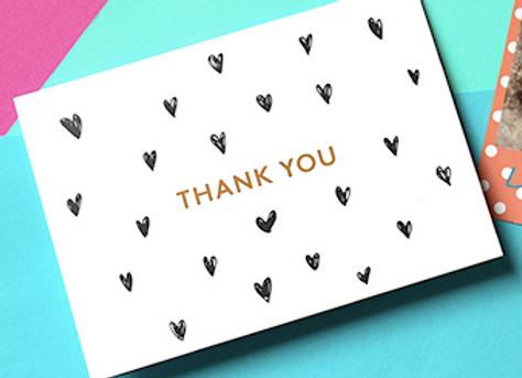 "Gift card ""MERCI"" + votre message"