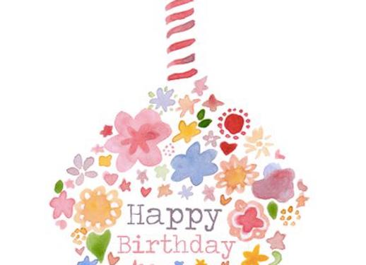 "Gift card ""HAPPY BIRTHDAY"" + votre message"