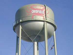 picture of he Crisfield water tower