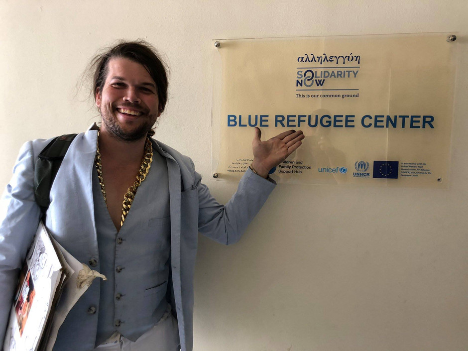 Visit to SOLIDARITY NOW's BLUE REFUGEE CENTER in Thessaloniki