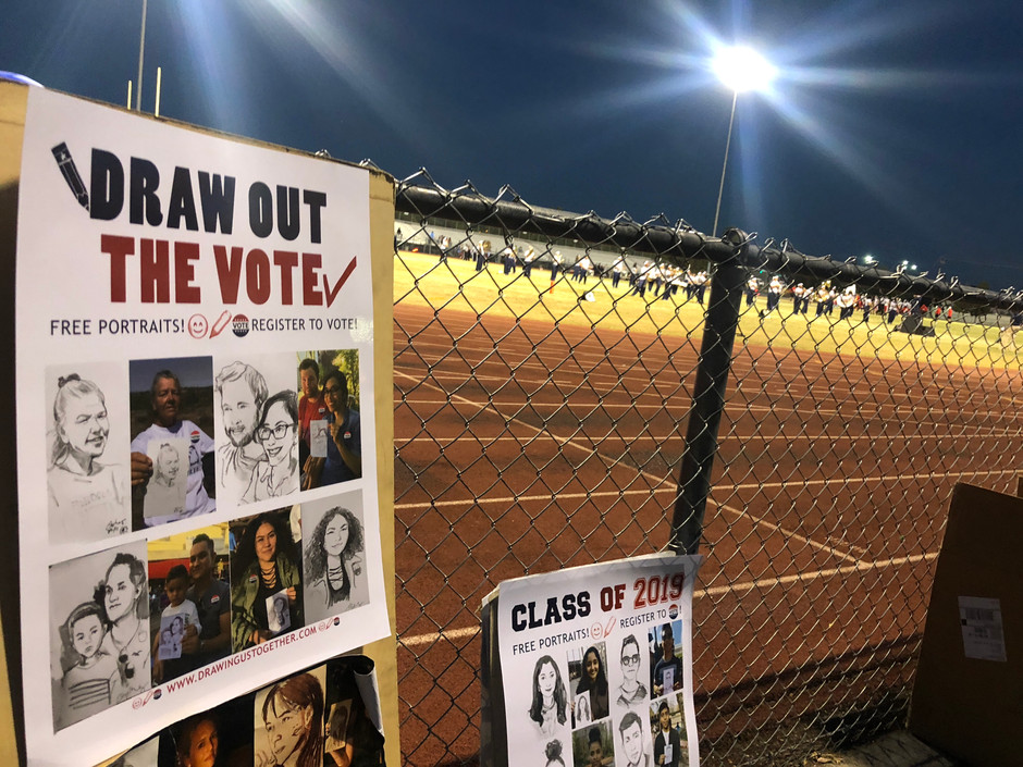 Drawing out the vote - Cheyenne High School - Las Vegas, NV