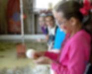 children exploring a crab shanty