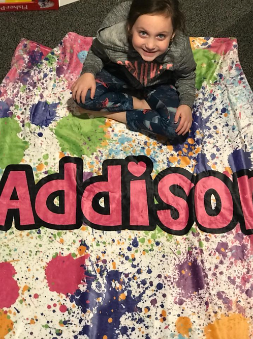 50x60 Big and Cozy Personalized Throw Blanket