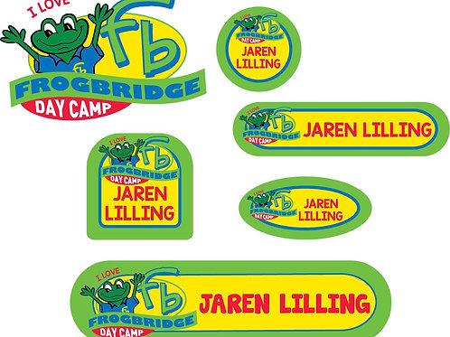 I LOVE FROGBRIDGE Name Labels - Camp Pack