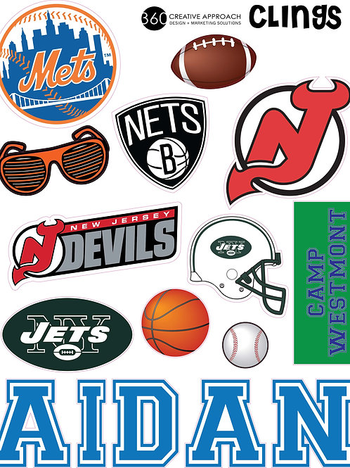 Removable Stickers -Sports