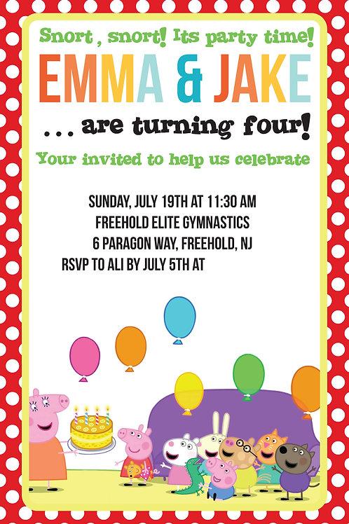 Peppa Invite