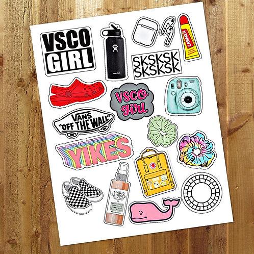 VSCO stickers (GIRL & BOY)