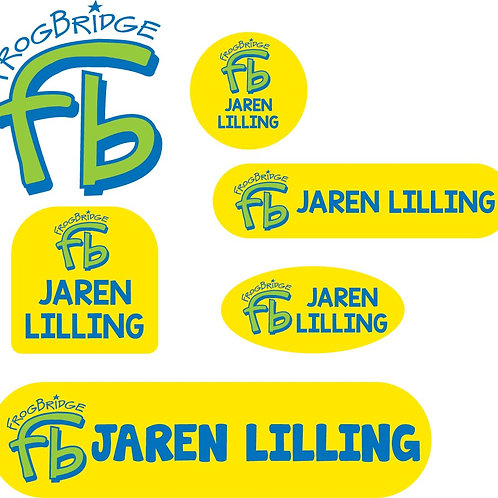 Initial Frogbridge Logo Name Labels - Camp