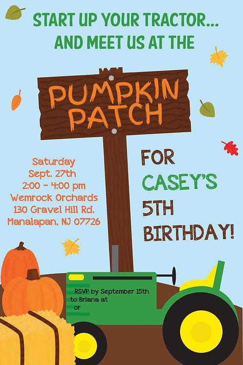 Pumpkin Patch Invite