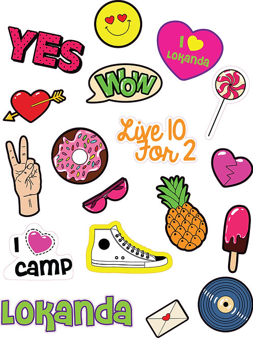 SWEET SUMMER - CAMP CLINGS AND STICKER SHEETS