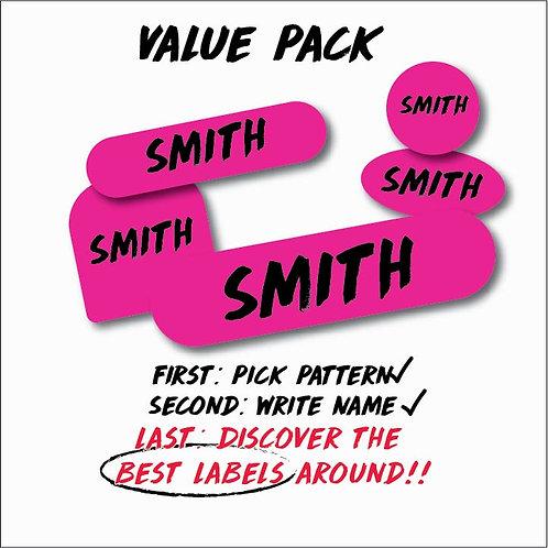 Name Labels Value Pack - 130 Labels