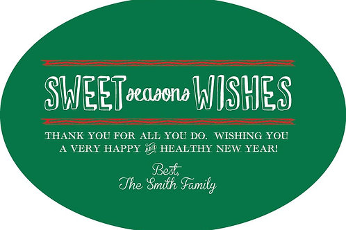 Sweet Seasons Wishes Gift Stickers