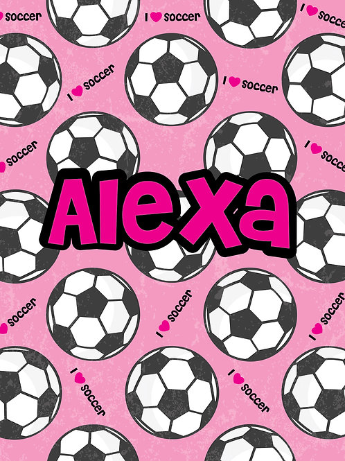 Personalized Super Soft Soccer Throw Blanket