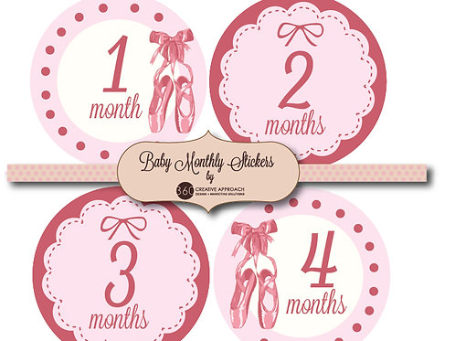 Ballet Baby Monthly Stickers