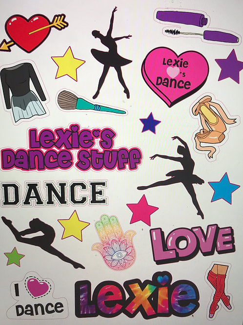 Personalized Dance Stickers