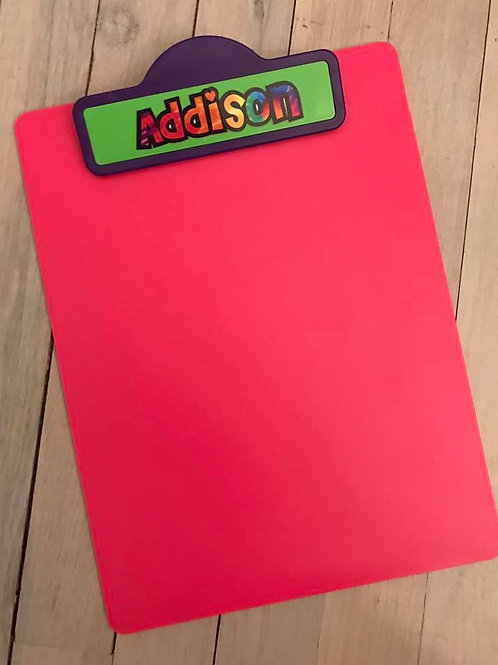 Back to School Personalized Clipboards
