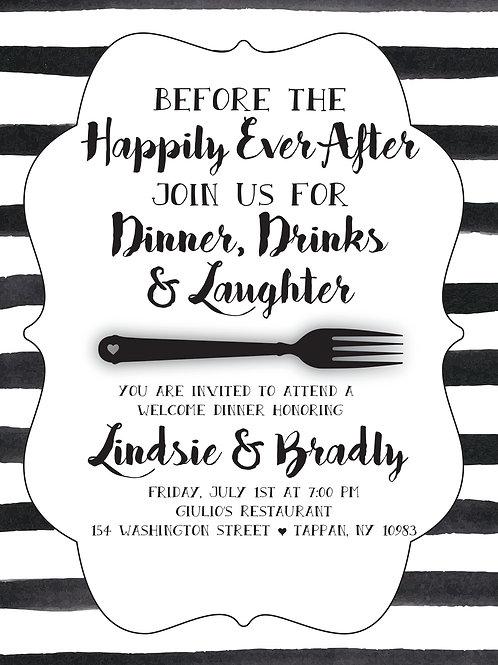 Black & White Invitation