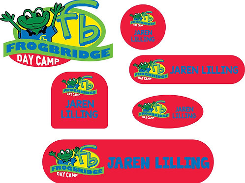 Red Frogbridge Logo Name Labels - Camp