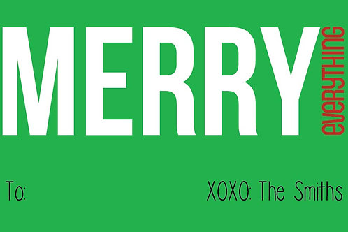 Merry Everything Gift Stickers