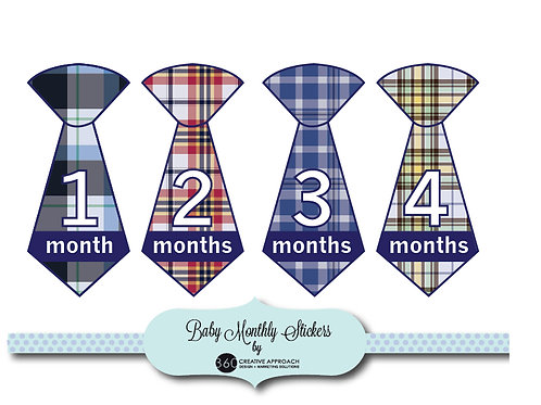 Baby Monthly Tie Stickers