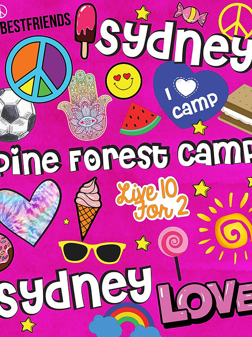 CAMP! Super Soft Personalized Camp Blanket - Collage