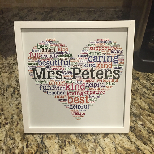 Personalized word art print