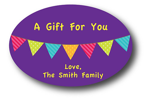 Colored Flags Personalized Gift Stickers