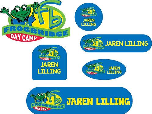 Blue Frogbridge Logo Name Labels - Camp Pack
