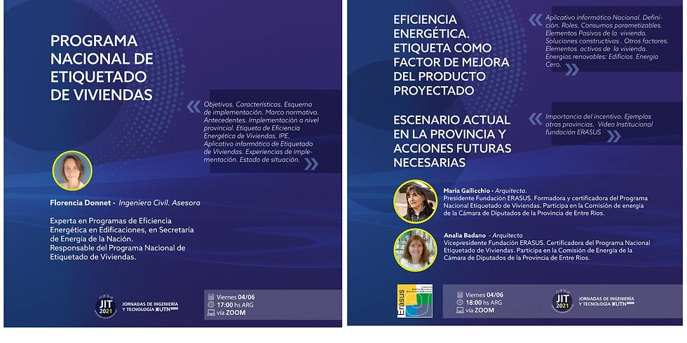 Progr.de Etiquetado de Viviendas Arg.Eficacia Energética Etiq. c. factor de mejora del producto proyectado.Escenario...