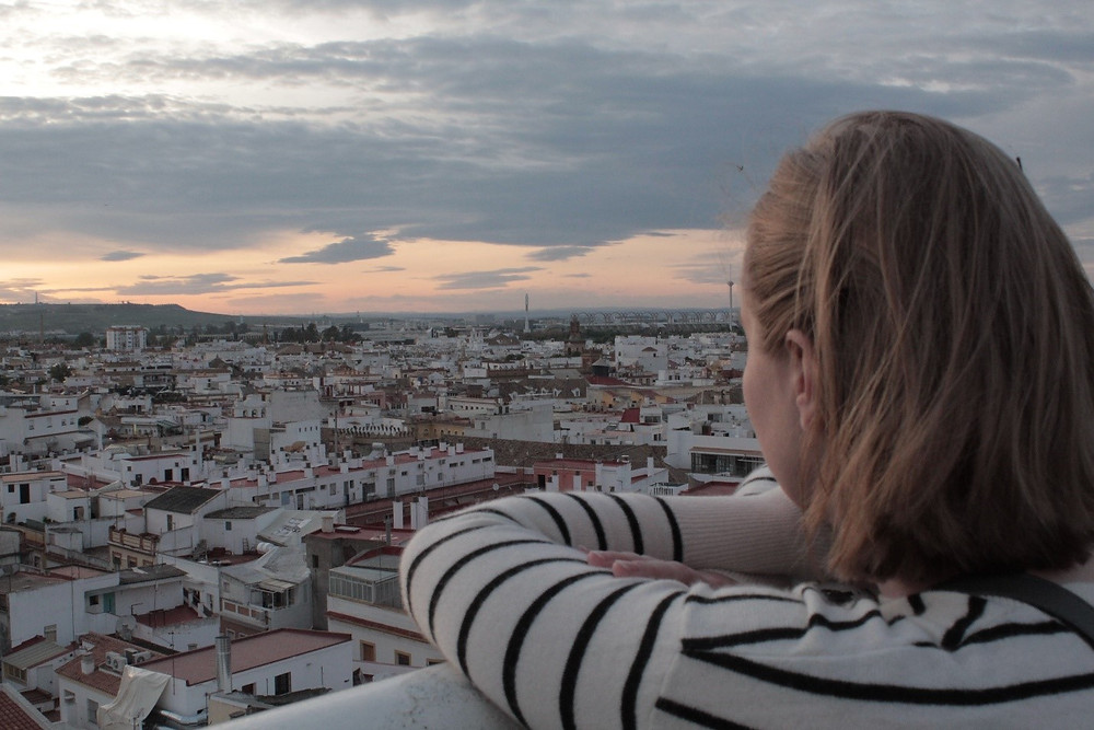 My first evening in Seville.