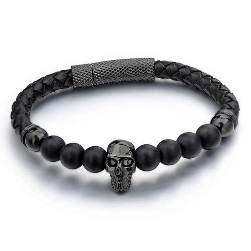 LEATHER SKULL BLACK