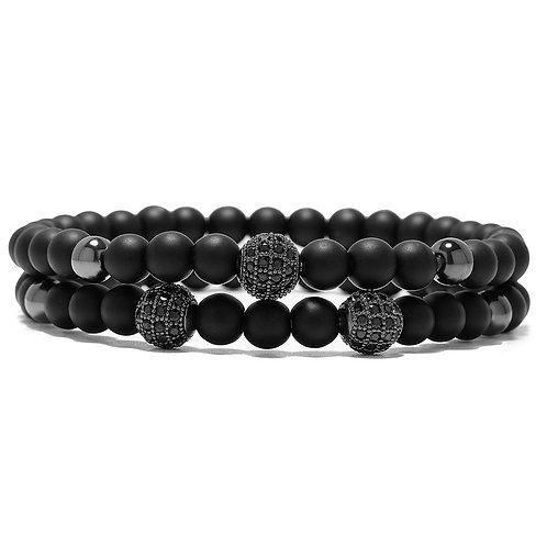 Classic Stack Black, bracelet