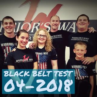 Black Belt Test 4-2018