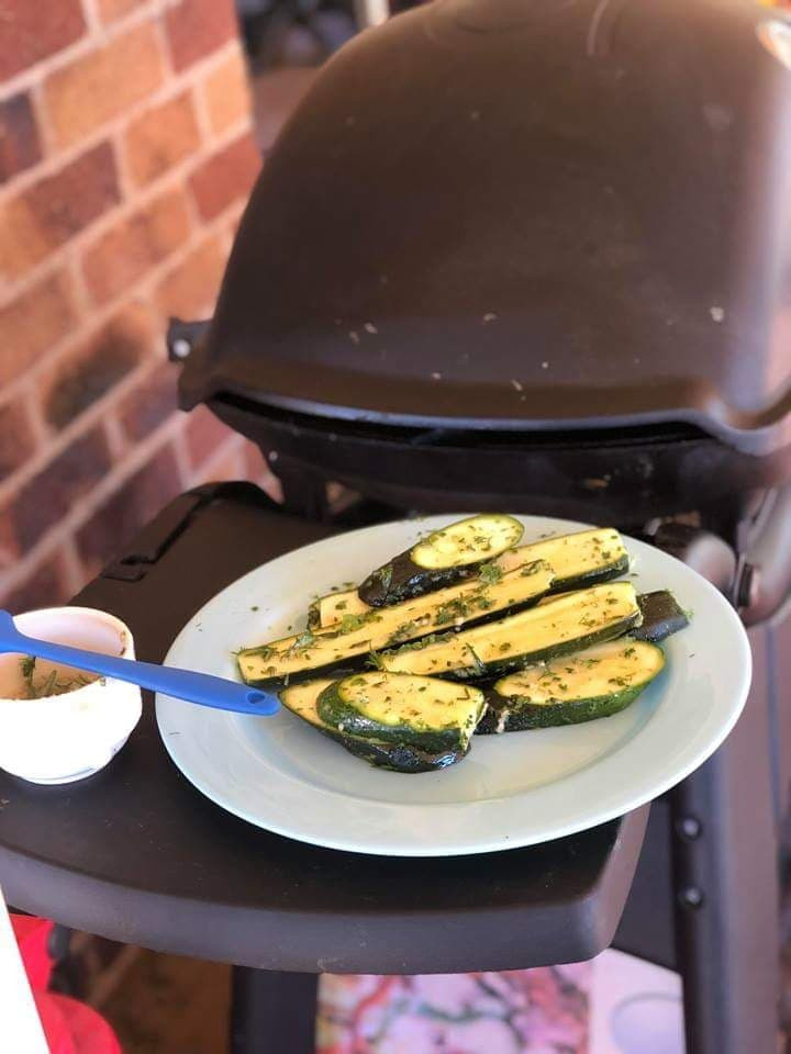 My family love grilling zucchini on the BBQ. It's such an easy cook side dish whilst the BBQ is on and everyone loves it - BONUS!