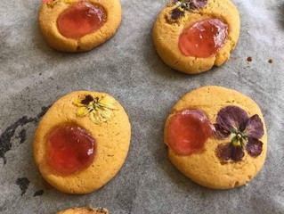 Edible Flower Shortbread Biscuits
