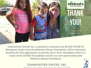 Mildred's Dream Foundation Grant
