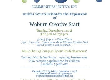 Expansion of Woburn Creative Start