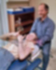Dr. Matt Tellez with a patient