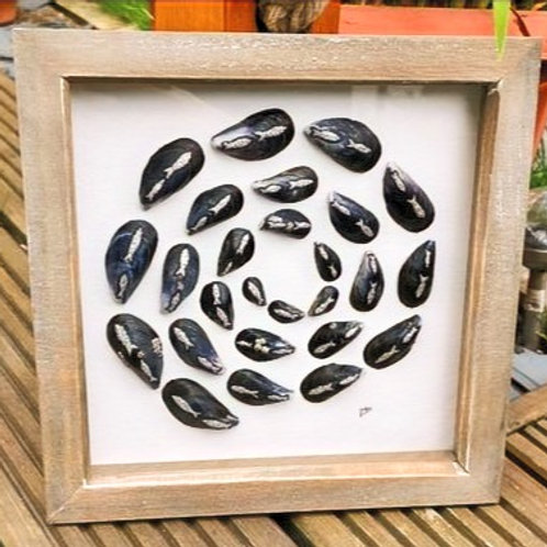 Sparkling Spiral Shoal- Shell Art