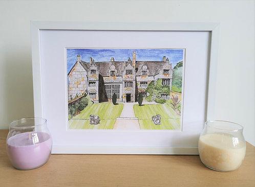 Trerice Manor- Art Print